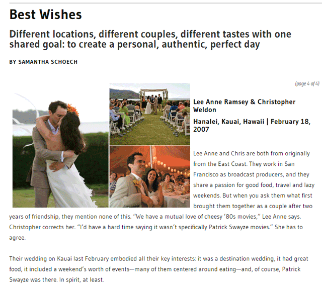 Best Wishes - Marin Magazine - January 2008 - Marin County, California
