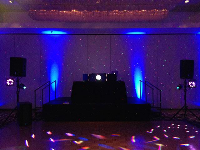 Club Blue Uplighting