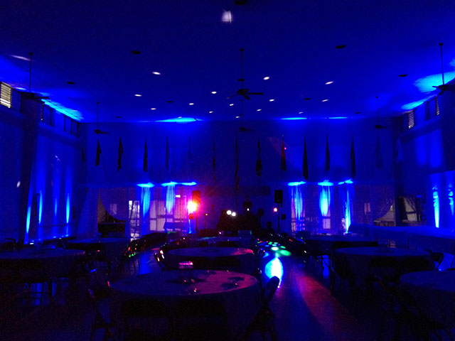 Blue Uplighting