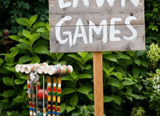 Lawn Games and Lighted Signs
